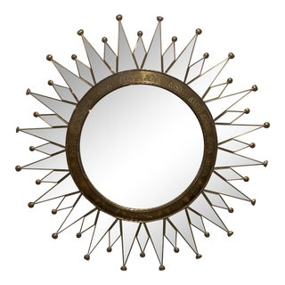 Vintage Starburst Wall Mirror For Sale