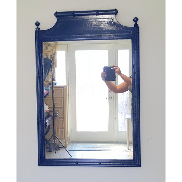 Glass Vintage Henry Link Faux Bamboo Mirror For Sale - Image 7 of 7