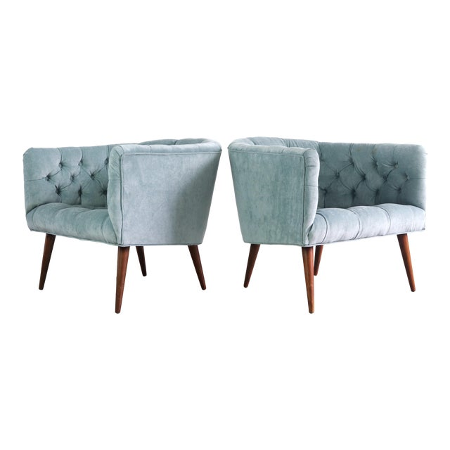 1960s Vintage Milo Baughman for Thayer Coggin Lounge Chairs - a Pair For Sale