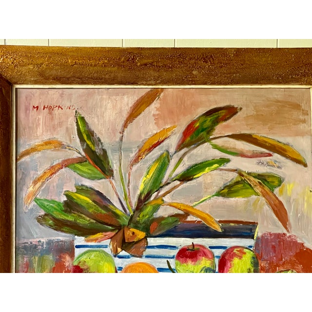 Midcentury Botanical Still Life Painting For Sale - Image 9 of 12