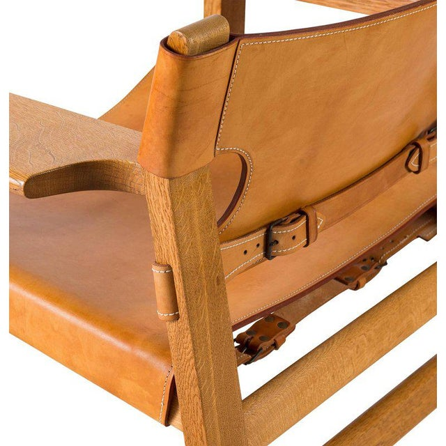 """Tan Børge Mogensen """"Spanish"""" Chair For Sale - Image 8 of 10"""