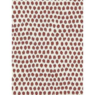 Sample, Scalamandre Dot Weave, Carnelian Fabric For Sale