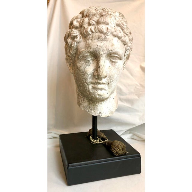 1930s Greek Mid-Century Head of the God Hermes Sculpture For Sale - Image 13 of 13