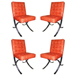 1970s Vintage Italian Mini Barcelona Chairs- Set of 4 For Sale