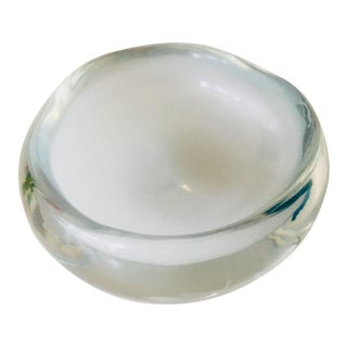 1960s Murano Free Form Glass Accent Bowl For Sale