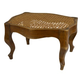 19th Century French Cane Top Footstool