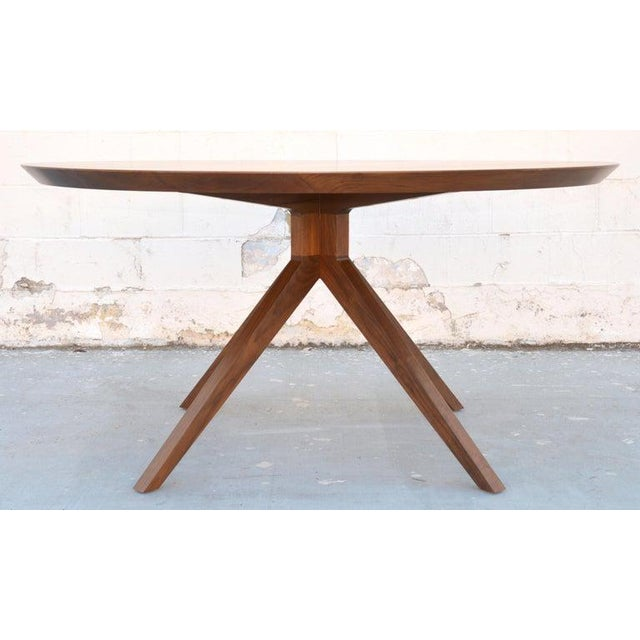 'Sputnik' Dining Table in Solid Walnut, Built to Order by Petersen Antiques For Sale In Los Angeles - Image 6 of 11