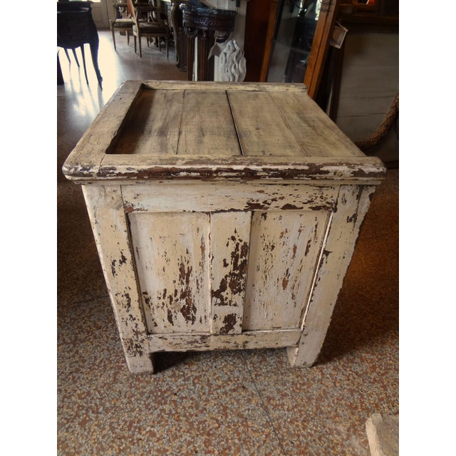 Yellow Late 19th Century Rustic French One Door Cabinet For Sale - Image 8 of 12