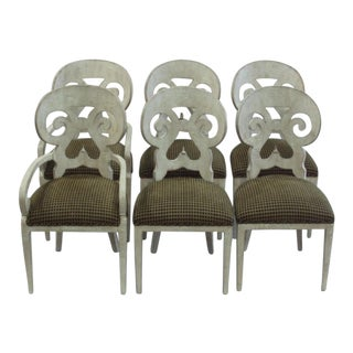 1960s Vintage Italian Dining Chairs - Set of 6 For Sale