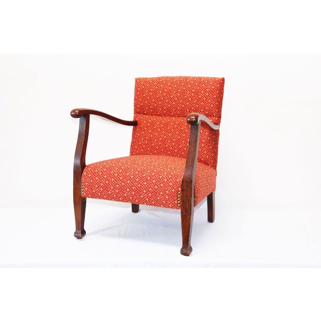 This is a 1930's wood chair (they used to make them small in those years), totally refurbished and reupholstered in high...