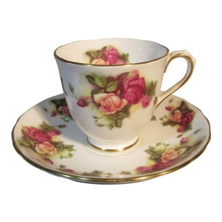 Royal Chelsea English Chocolate or Demitasse Cup & Saucer For Sale