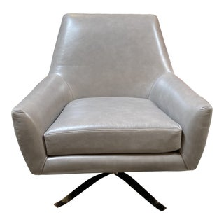 West Elm Lucas Swivel Chair For Sale