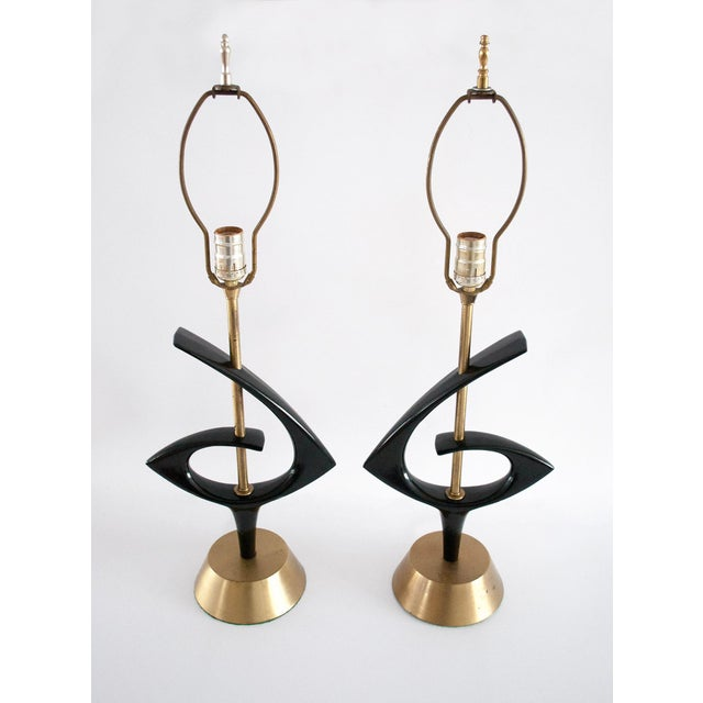 Rembrant Black Atomic Lamps - A Pair - Image 4 of 11
