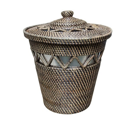 Rattan Basket with Open Weave Design {w/lining} - Image 2 of 2