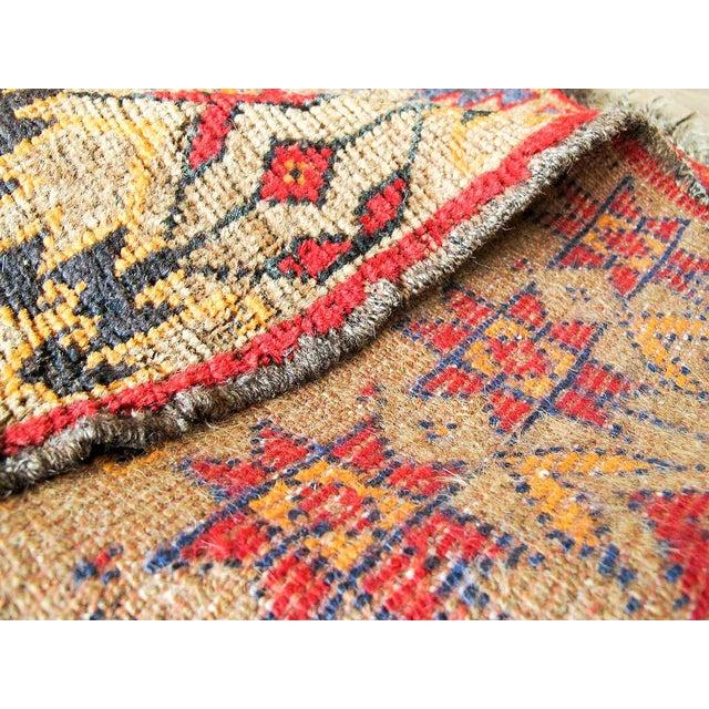 Vintage Brown Persian Tribal Rug - 2′8″ × 3′5″ - Image 6 of 6