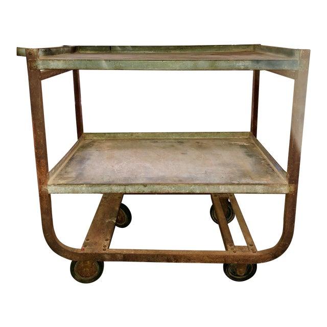 Vintage Industrial Bar Cart For Sale