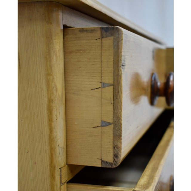 Brown English Victorian Pine Chest of Drawers For Sale - Image 8 of 12