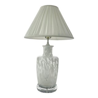 Bitossi Murano Mid-Century Frosted Glass and Lucite Lamp For Sale