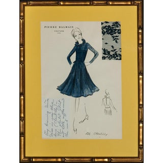 "Original ""122 Chantilly"" Balmain Couture Fashion Sketch For Sale"