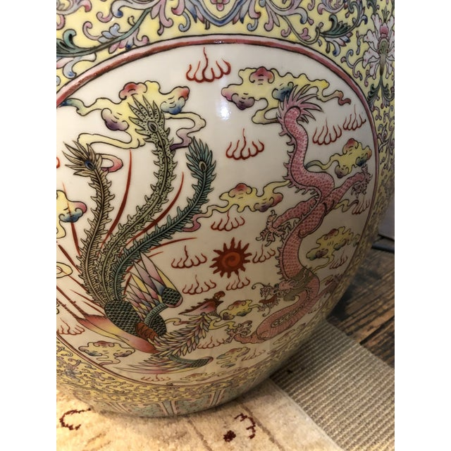 Large Ceramic Chinese Planter For Sale - Image 10 of 11