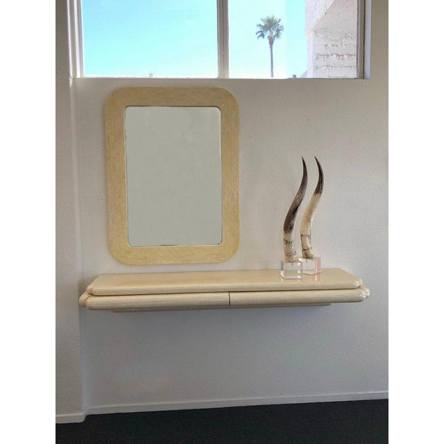 Modern Tessellated Horn Console and Mirror by Enrique Garcel For Sale - Image 3 of 8