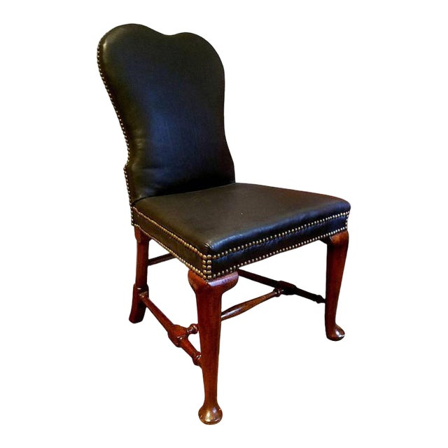 George II Circa 1740 Side Chair in Glove Leather For Sale
