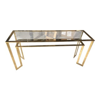 Brass/Glass Console Table