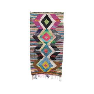 "Kilim Boucherouite Moroccan Kilim, 4'4"" X 8'1"" Feet"