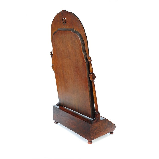 19th Century Carved Walnut Shaving Mirror For Sale In Los Angeles - Image 6 of 9