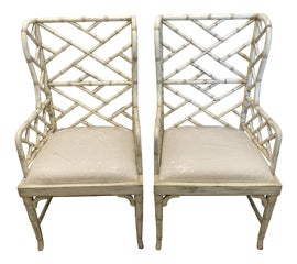 Image of Faux Bamboo Side Chairs