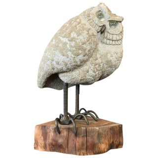 1960s Mid-Century Modern Lou Rankin Metal Owl Sculpture For Sale