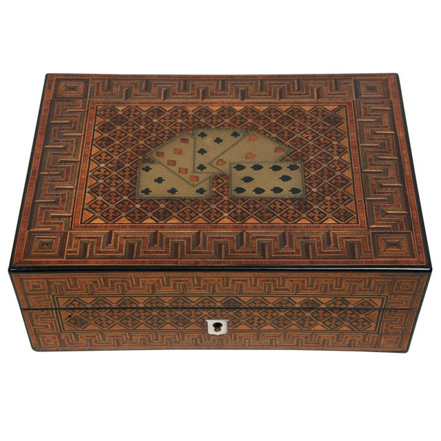 19th Century English Game Box For Sale