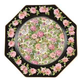 Crown Ducal Roseland Chintz Octagonal Plate For Sale