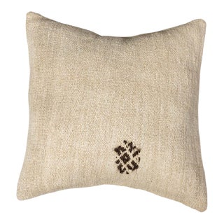 Vintage Designer Wool White Sofa Pillow For Sale