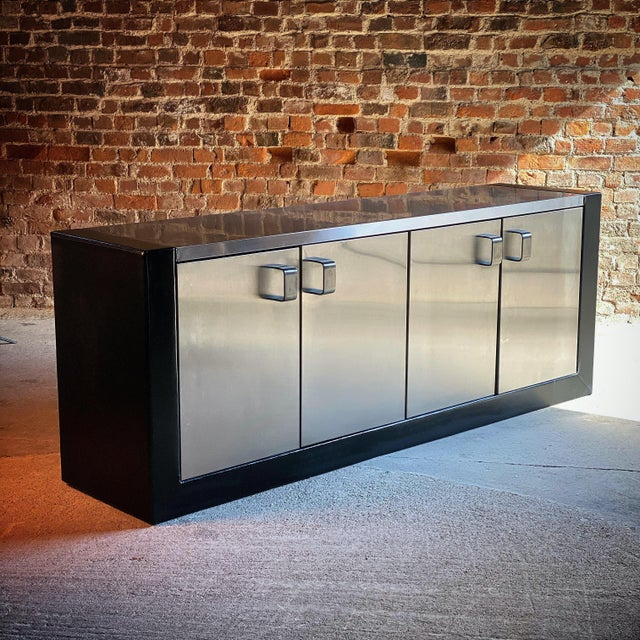 1970s Paul Evans Custom Steel Sideboard Credenza, USA, circa 1970 For Sale - Image 5 of 13