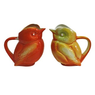 Vintage French Bird Pitchers- a Pair For Sale