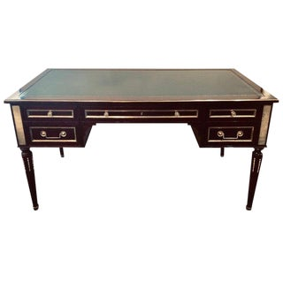 Jansen Style Fully Refinished Louis XVI Fashioned Bronze-Mounted Desk For Sale