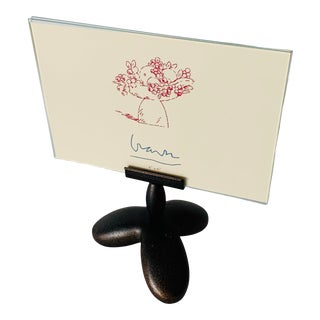 Memphis Style Post Modern Michael Graves Pedestal Picture Frame For Sale