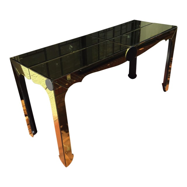 Gold Beveled Mirror Hall Table - Image 1 of 10