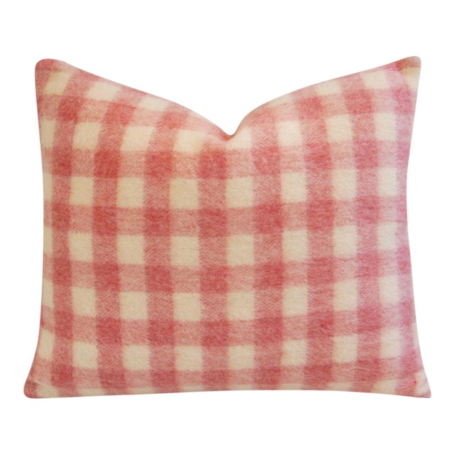 Scottish Plaid Wool & Velvet Down/Feather Pillow - Image 1 of 6
