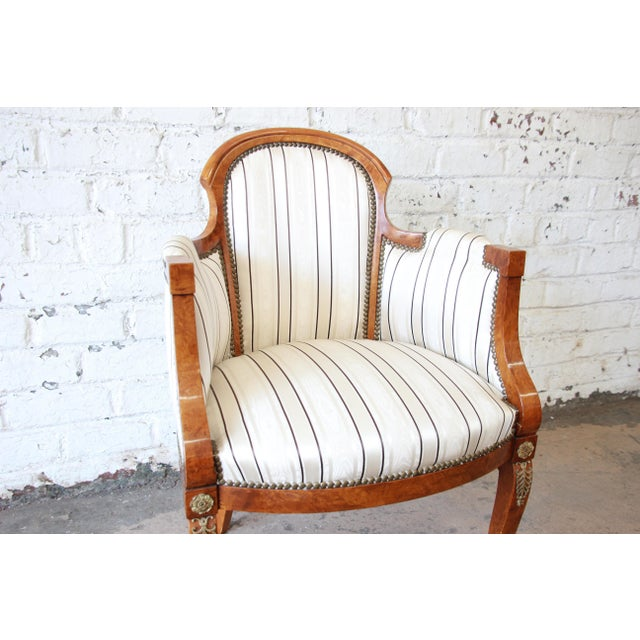 Antique Petite Biedermeier Style Armchair | Chairish
