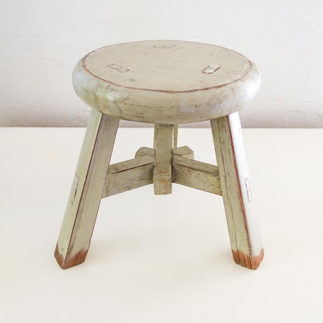 Surprising Antique Asian Stool Small Rustic Plant Stand Beatyapartments Chair Design Images Beatyapartmentscom