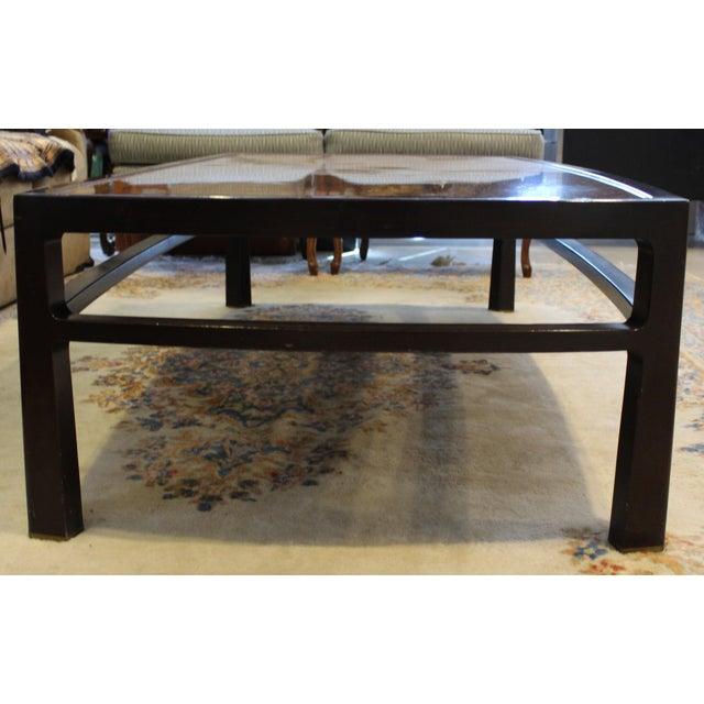 Dunbar Furniture Mid-Century Modern Wormley for Dunbar Rare Mahogany Rectangular Coffee Table For Sale - Image 4 of 13