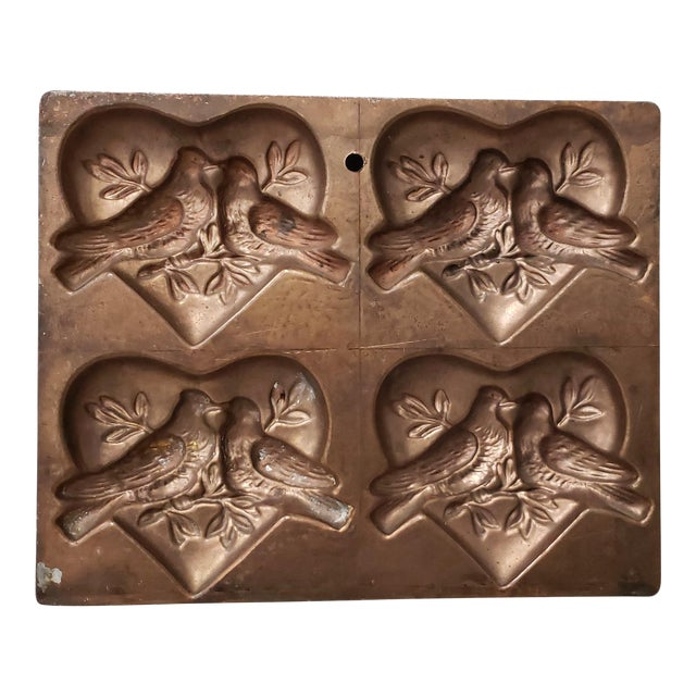 "Antique t.c. Weygandt Co. ""Love Birds"" Chocolate Mold For Sale"