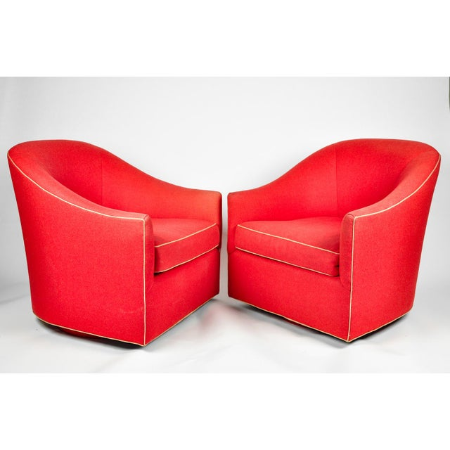 1960s Barrel Chairs, S/2 - Image 8 of 11