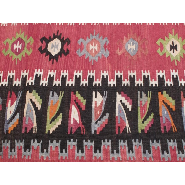 Red Balkan Kilim For Sale - Image 8 of 8