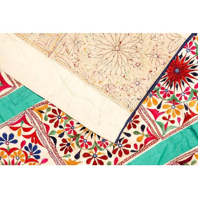 Large Vintage Dowry Textile, Gujarat India - Image 5 of 5