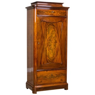 19th Century Biedermeier Linen Cabinet For Sale