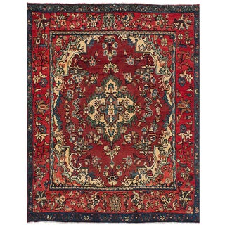 Vintage Mid-Century Persian Rug - 4′5″ × 6′1″ For Sale