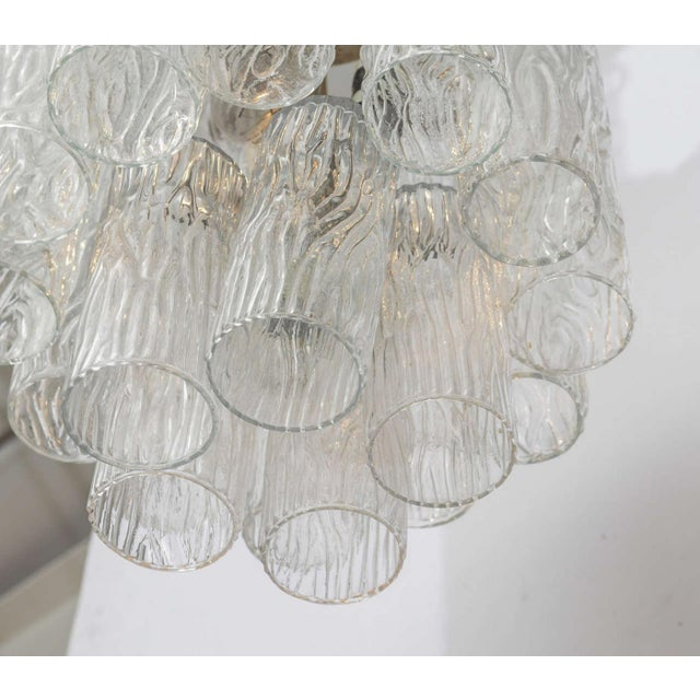 """1960s Pair of Italian Modern Venini """"Tronchi"""" Chandeliers For Sale - Image 5 of 8"""